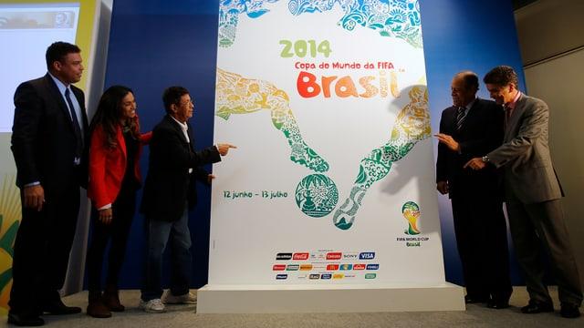 Das offizielle Plakat der WM 2014 in Brasilien.