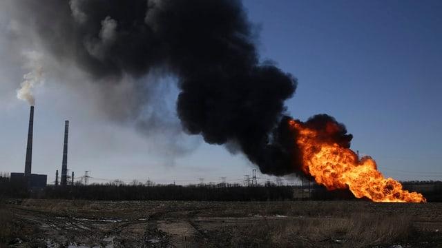 Explosiun en la citad ucranaisa Debalzewe.
