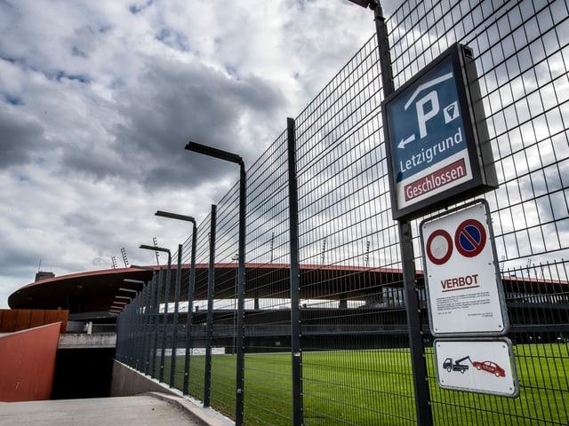 Geschlossenes Letzigrund-Stadion.