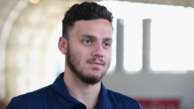 Der britische Schwimmer James Guy
