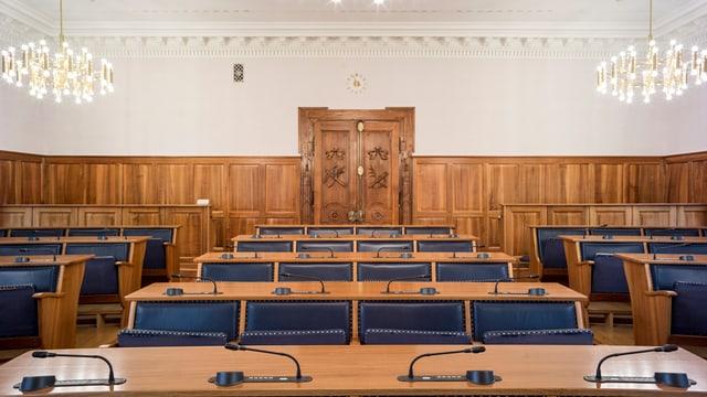 Blick in den Landratssaal im Rathaus Altdorf