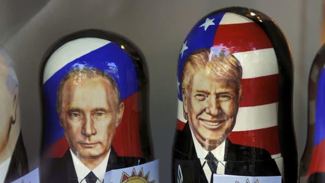 Matrjoschkas mit Putin und Trump.