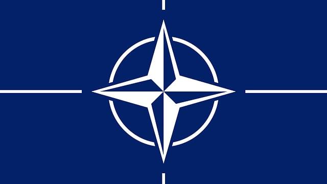 Das Logo der Nato mit der Kompassnadel