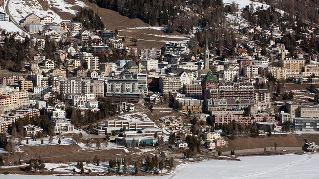 Blick auf St.Moritz