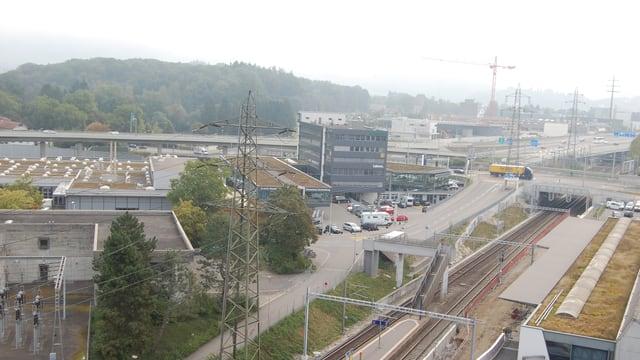 Stadt Bern und Umland, fotografiert vom Dach des Feusi-Bildungszentrums im Wankdorf.