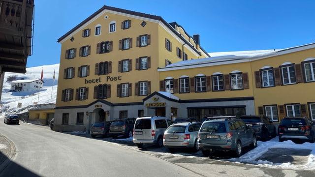 Anc è il hotel Post a Bivio plain.