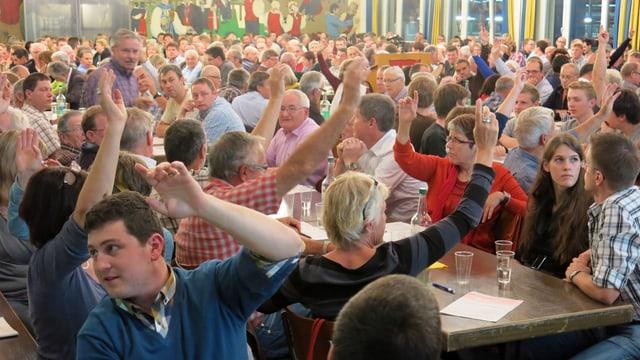 Bild von der Gemeindeversammlung.