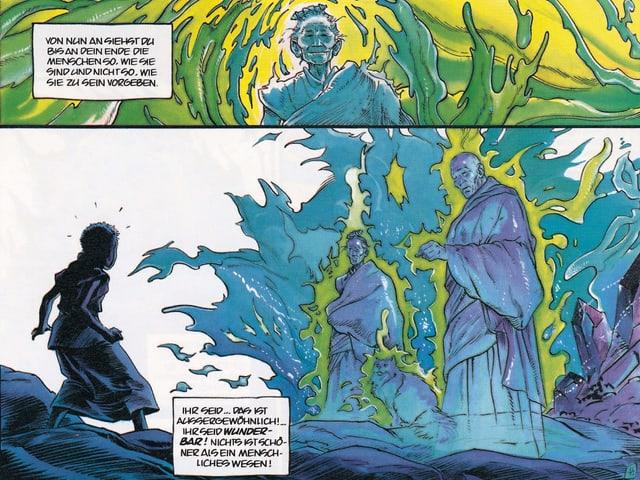 Auschnitt aus dem Comic mit zwei Bildern.