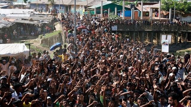 Demonstrierende Rohingya