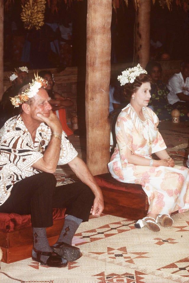 Prinz Philip  und Queen Elisabeth