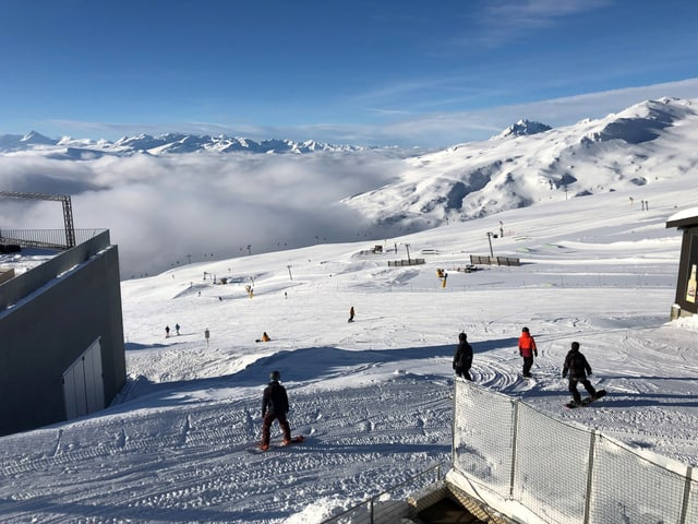 Territori da skis a Laax.