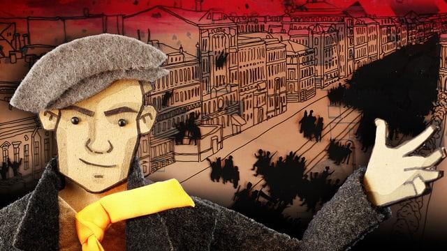 Trickfilmfigur von Wladimir Majakowski