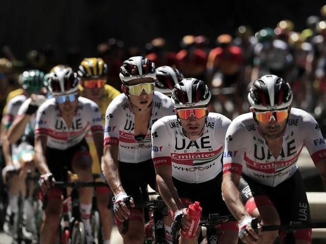 Die Fahrer vom UAE Team Emirates.