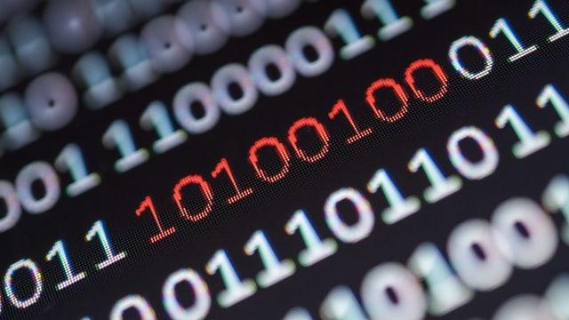 Code binar da nollas ed iners sin in visur da computer.