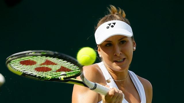 Belinda Bencic a Wimbledon il fanadur 2015.