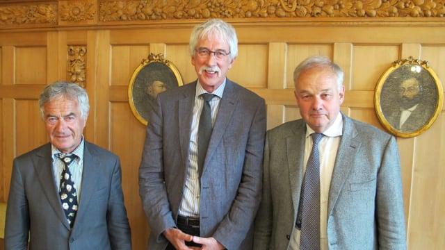 Solothurner Regierungsräte Walter Straumann, Klaus Fischer, Christian Wanner.