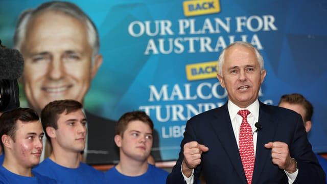 Turnbull bei einer Rede