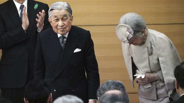 Akihito mit Ehefrau Michiko.