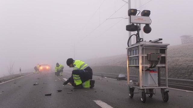Für die Untersuchung des Unfallortes war die Strasse zwischen Birrwil und Beinwil am See mehrere Stunden gesperrt.