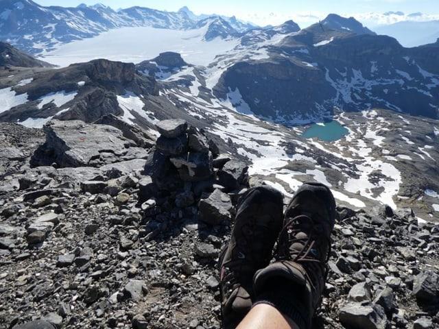 Vom Rohrbachstein mit Blick auf den Plaine Morte Gletscher.
