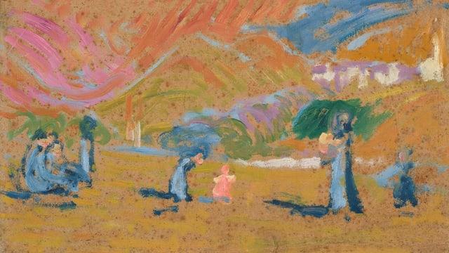 """""""Sulegl d'atun"""" da Giovanni Giacometti enturn 1908"""