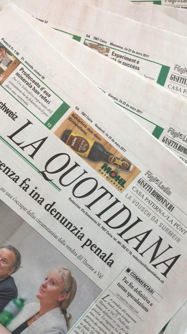 Die Zeitung «La Quotidiana»