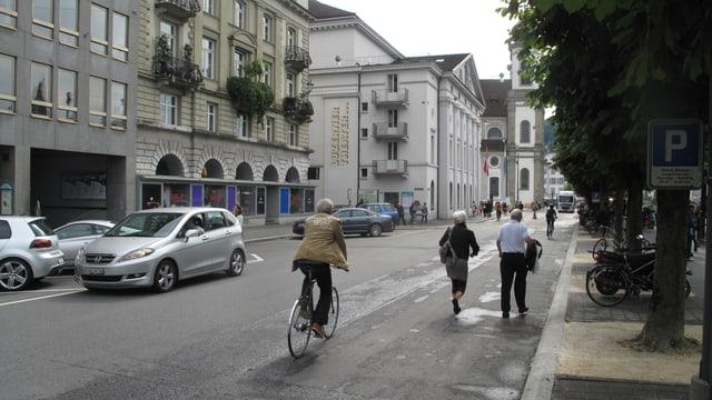 Ausschnitt der Bahnhofstrasse in Luzern