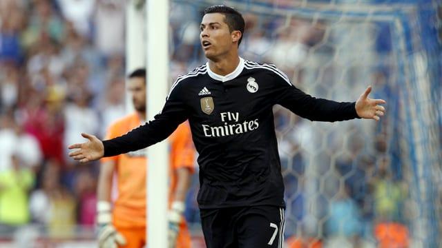 Cristiano Ronaldo jubelt.