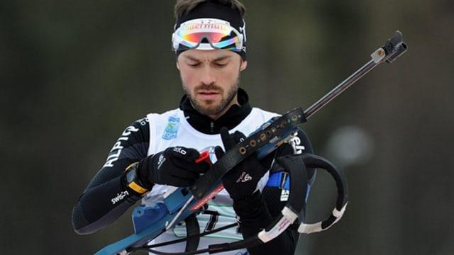 Ivo Joller am Biathlon-Weltcup in Ruhpolding