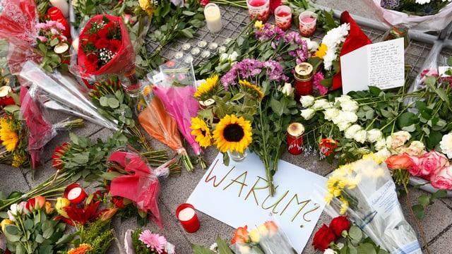 Blumen für die Opfer von München.