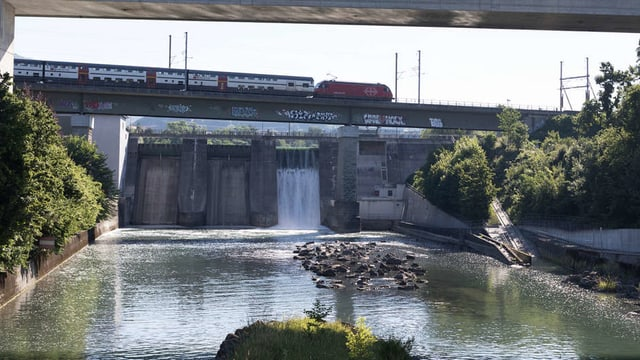 Das Wasserkraftwerk von Wettingen.