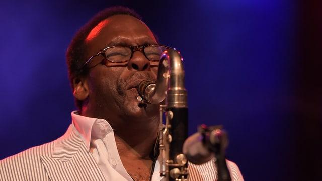 Der schwarze Saxophonist David Murray.