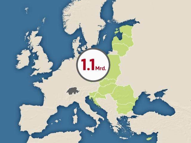 Karte der EU.