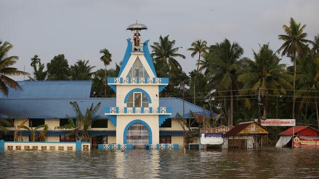 Überschwemmte Gebäude.