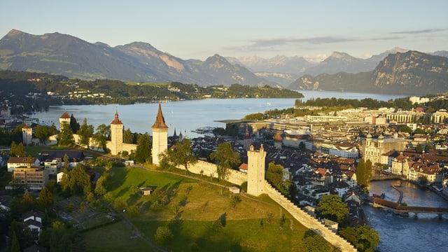 Die Museggmauer in Luzern