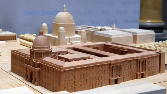 Architektur-Modell des geplanten Berliner Stadtschlosses.