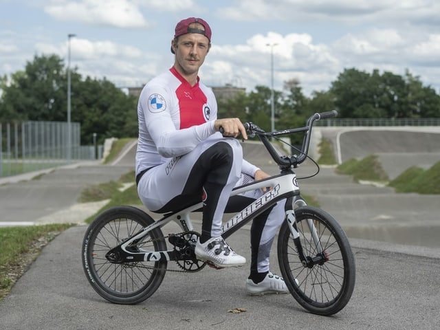 David Graf auf seinem BMX