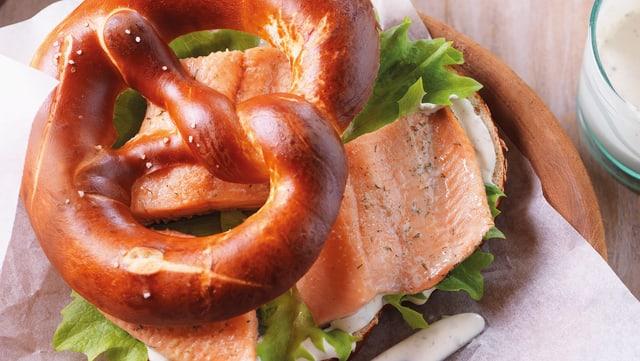 Forellen-Sandwich.
