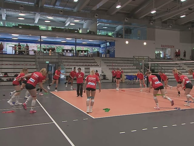 Die Spielerinnen der Schweizer Nationalmannschaft.