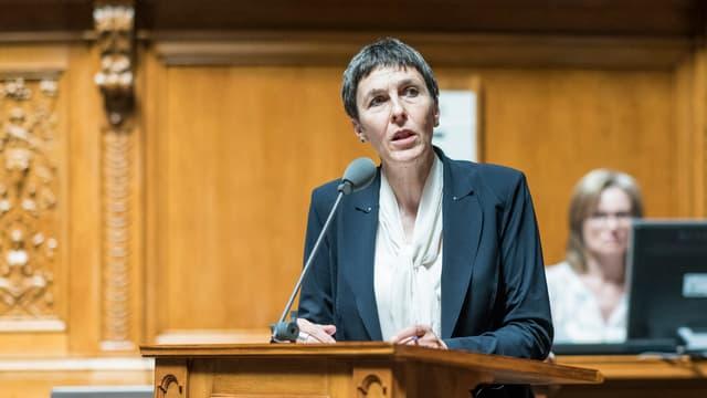 Barbara Gysi, St. Galler Nationalrätin der SP, will die Nachfolge von Paul Rechsteiner antreten.