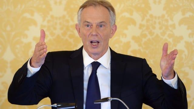 L'anteriur primminister britannic, Tony Blair.