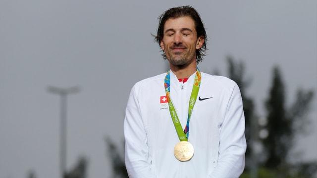 Fabian Cancellara bei der Siegerehrung.