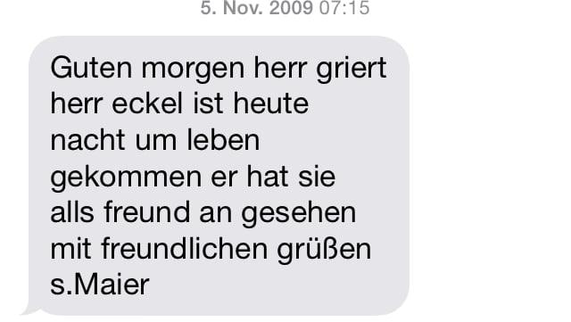 SMS von Frau Maier