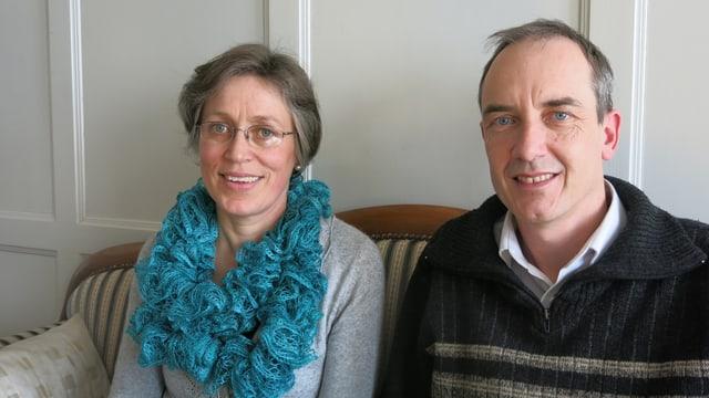 Eva Leuenberger neben ihrem Mann Martin - Pfarrleute von Amsoldingen