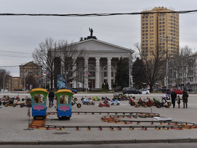 Spielplatz im Zentrum von Donezk
