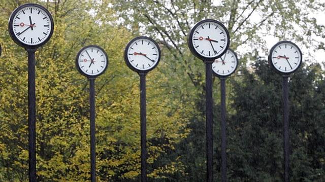 Verschiedene Uhren - Vierschiedene Zeiten.