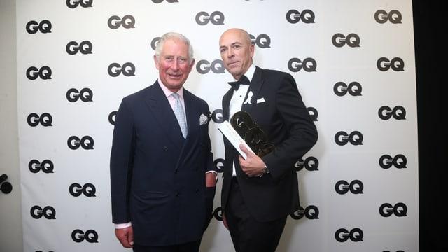 Prinz Charles bekam den «Lifetime Achievement Award» von GQ-Redaktor Dylan Jones.