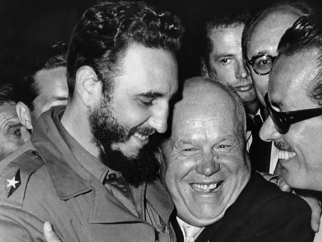 Castro mit Chrutschtschow.