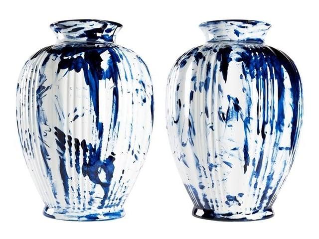 Grosse Vasen, blau