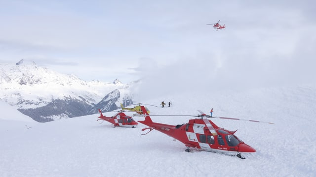 Helikopter auf dem Vilan